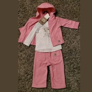 Carhartt - 3 Peice Girls Outfit 6 Months